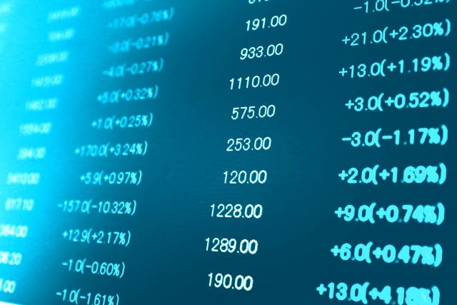 株式取引価格ボードの写真