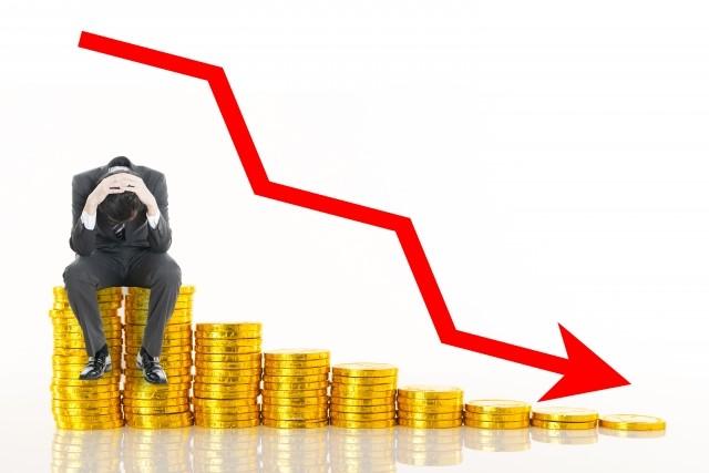 株価暴落イメージ写真