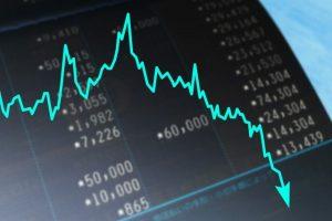 米国株価下落のイメージ画像