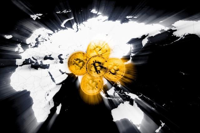 ビットコイン暴落イメージ写真